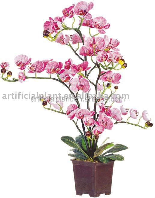 venta al por mayor de flores artificiales de orquídeas