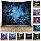 "Print Bohemian Print Sublimation Print Starry Night Space Bohemian Mandala Forest Mountain Psychedelic Trippy Hippy Witchcraft Tarot Tapestry 60""*51"""