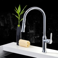 YLK0013-C single handle deck mounted kitchen water taps pull out down kitchen sink faucet