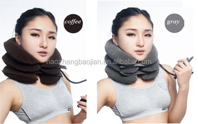 Haozheng Fashion Cervical Collar Traction Office Worker Neck Brace For Neck Pain And Head Pain ,Inflatable Cervical Collar