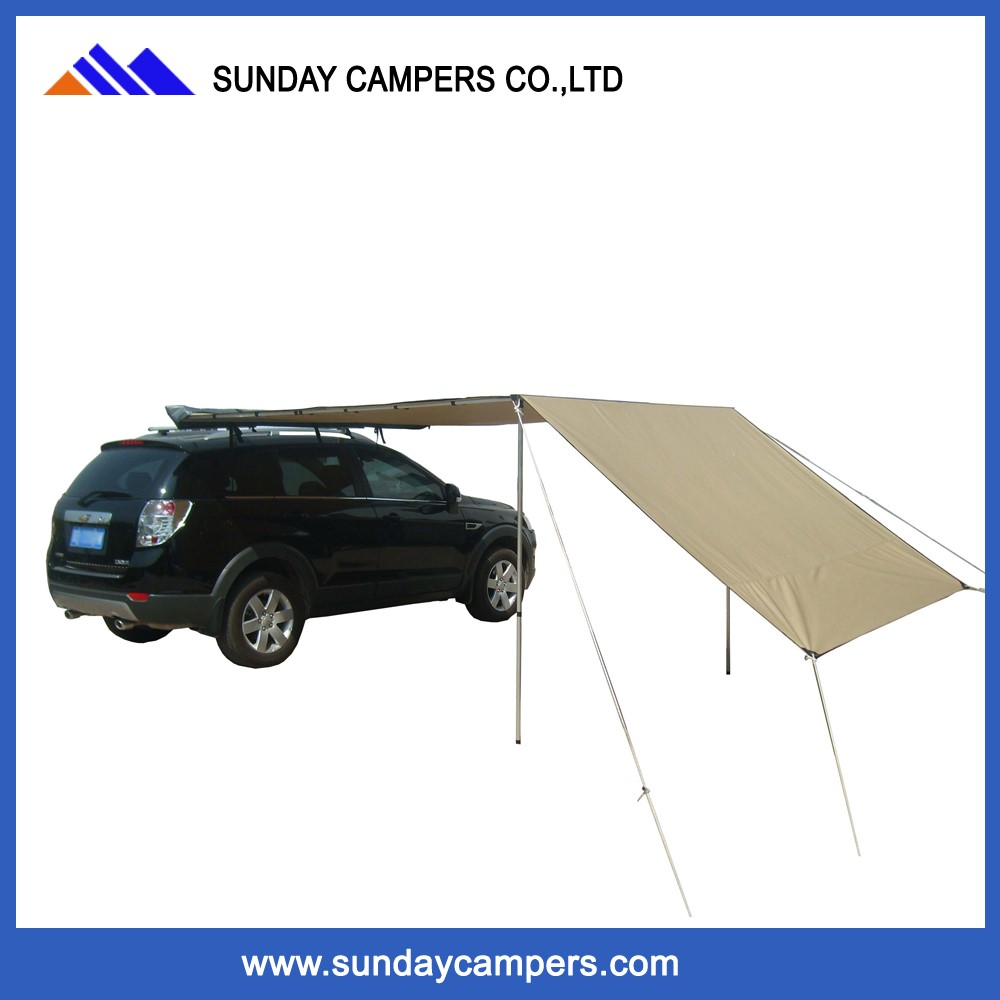 Car Camping 4x4 Portable Sun Shade Car Roof Side Awning