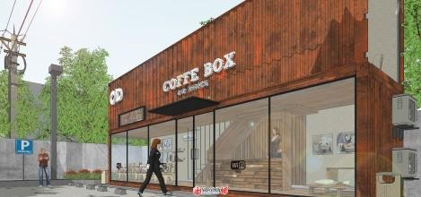 Prefabricated container coffee shop