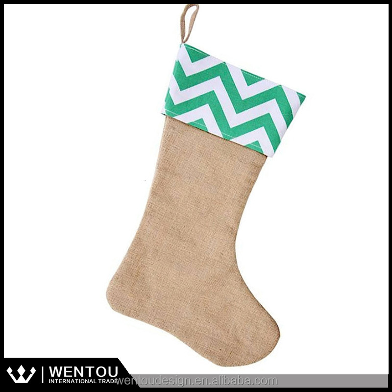 Wholesale Blank Burlap Stockings Monogrammed Christmas Stockings