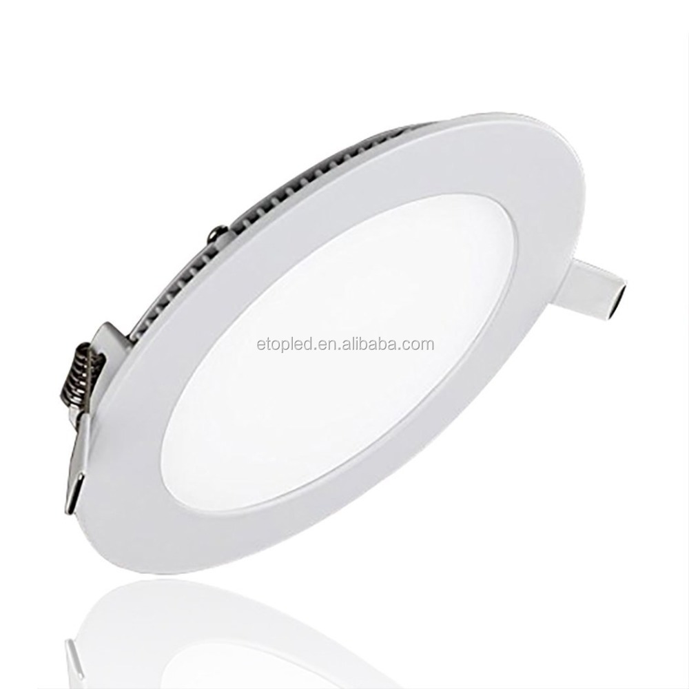 Recessed Daylight cool white Ultra slim 220v led panel round