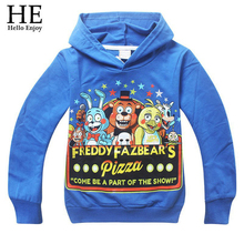 Kids sport clothes Children's t-shirt Five Nights at Freddys baby Boys clothes Long sleeve Autumn style Cartoon Hoodies 2015 New