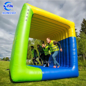 2019 inflatable interactive adult game Flip it team building square rolling sports game