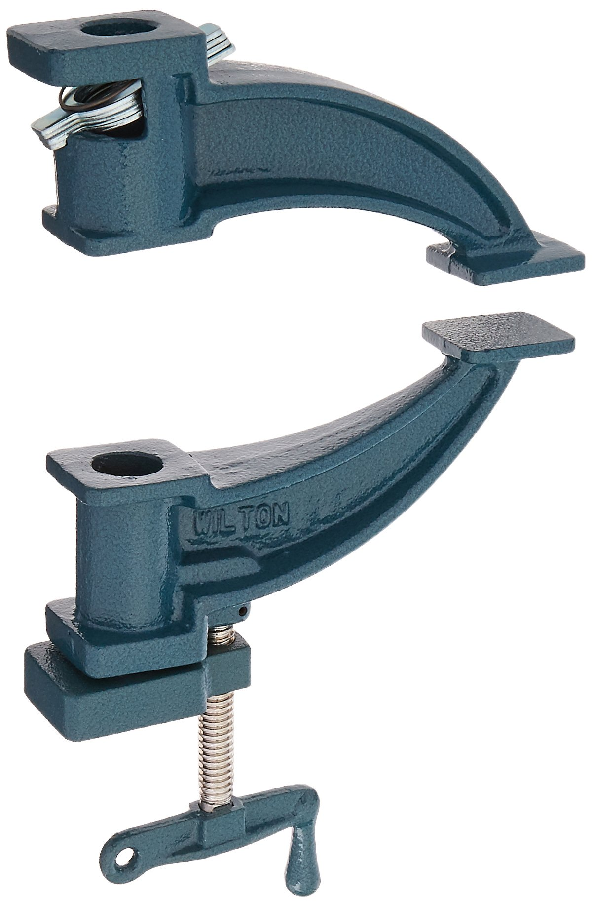 Wilton 14870 530, Steel Pipe Clamp Fixture, Deep-Throat, 3/4-Inch Threaded Pipe