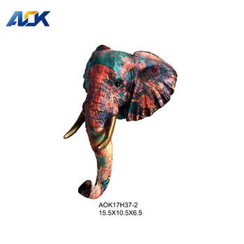 Resin Animal Head Wall Mounted Elephant Figurines Product On Alibaba