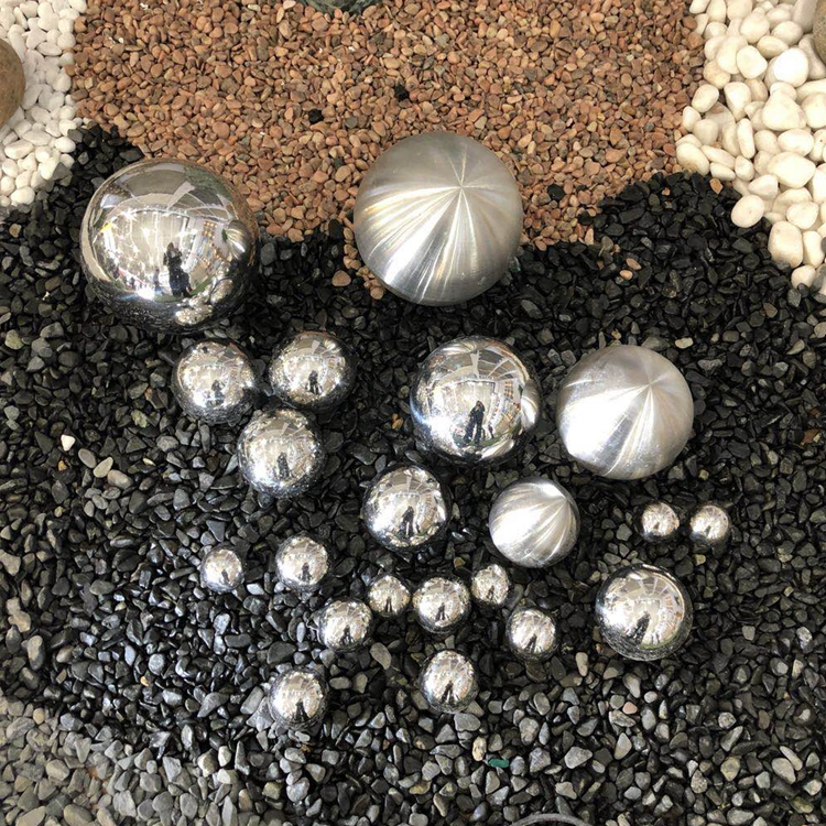 garden landscaping shinny silver 304 stainless steel ball fountain