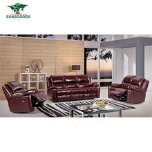 Factory Supply Recliner Sofa Set Modern Recliner Lounge Chair,Sectional Reclining Genuine Leather Sofa