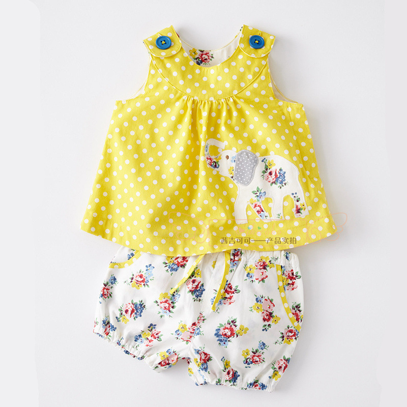 Wholesale newborn baby girls summer cotton clothing set clothing ...