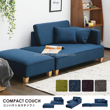 Pfs Ergonomic Sofa Bed Blue Fabric Lounge Chaise Buy Round