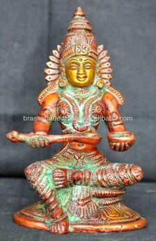 Hindu Goddess Of Food And Prosperity Devi Annapurna Devotional Brass Statue Buy Brass Hindu God Statuehindu Gods And Goddessesgoddess Of Fortune