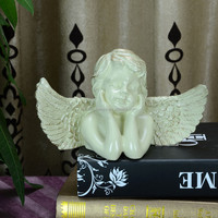 abstract figurative sculpture white angel decor