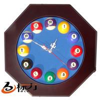 billiard snooker pool wooden wall clock billiard accessories for club use