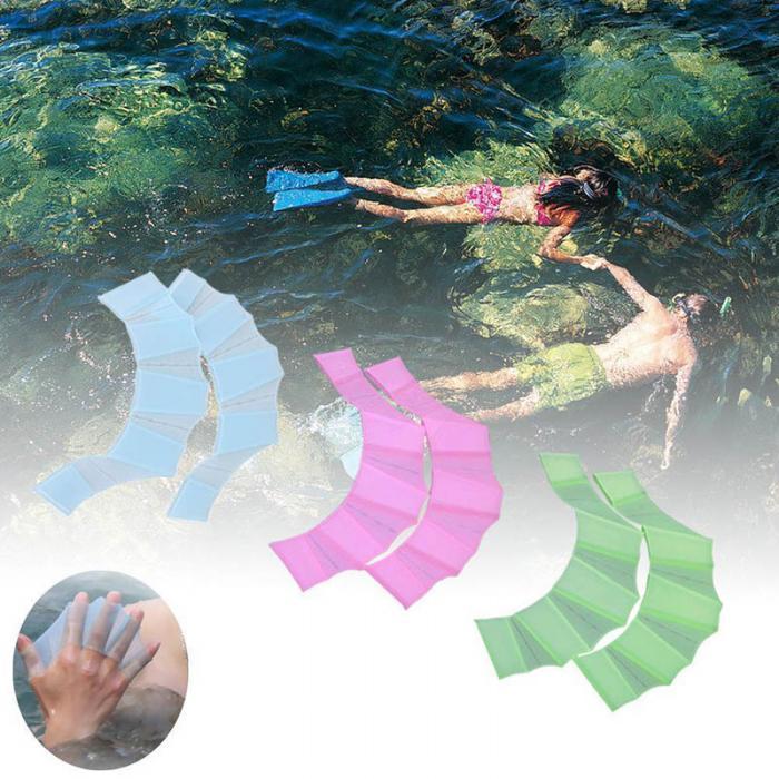 1 Paar Silikon Flossen Handschuhe Strand Schwimmen Schwimmflossen Schwimmhäute
