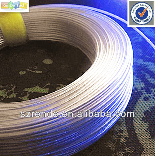 Transparent teflon silver plated copper wire
