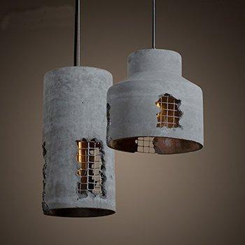 Rail Chandeliers Hanging Lamps Old Restaurant Concrete Cement Pendant Lighting