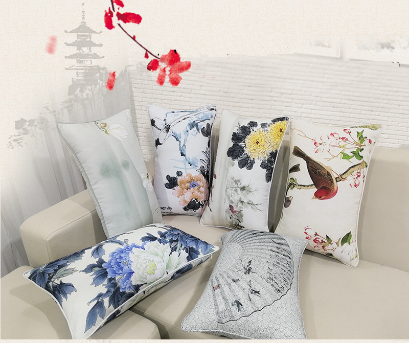 100 cotton sublimation digital printed pillow case printed cushion cover