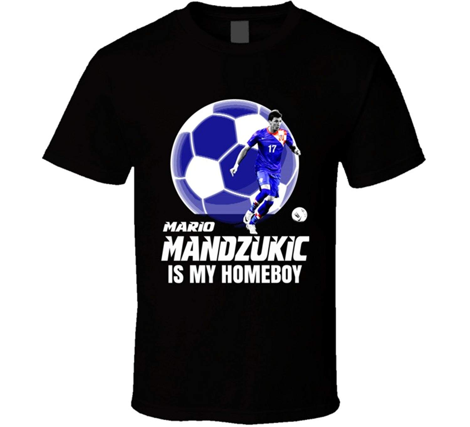 4682308ebce Get Quotations · Mario Mandzukic is My Homeboy Croatia Euro Cup Soccer T  Shirt