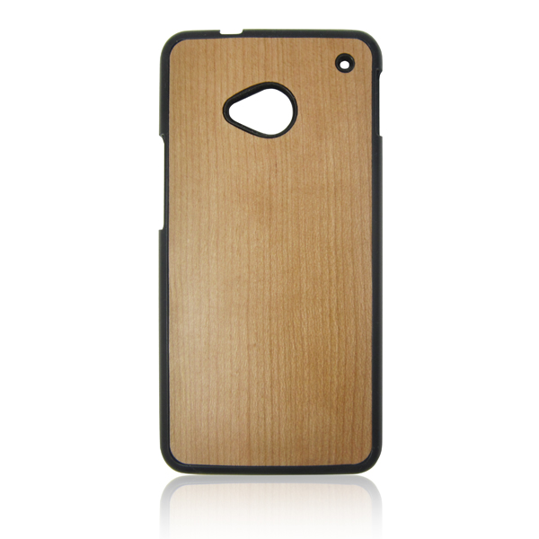 PC bottom phone shell natural wooden phone case wood back cover for HTC M7