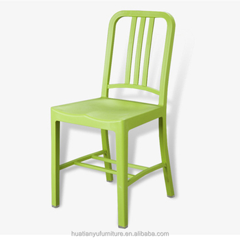Durable dining room colorful design high back pp plastic chair for ...