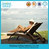Beachside Used Adjustable Customized Garden Furniture Rattan Chaise Lounges