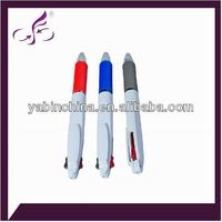 multifunctional color grip durable white barrel roller pen