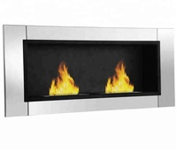 Good quality classical style 2 burners wall inserted eco-friendly fireplace FP-022W