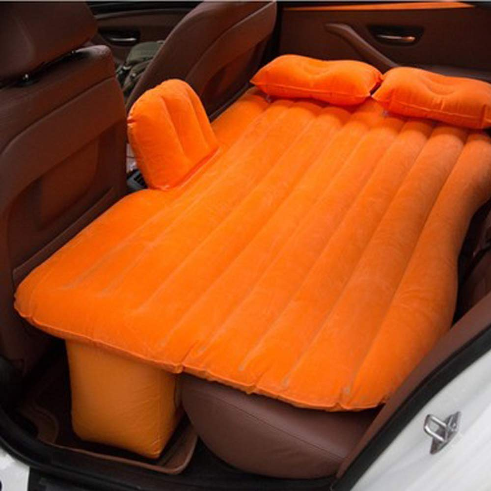 YHJM Car Inflatable Bed Car Rear Travel Bed Car Rear seat SUV Sleeping pad Split PVC Flocking car Bed