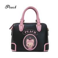 2019 High quality cartoon printed fashion PU leather crossbody handbag