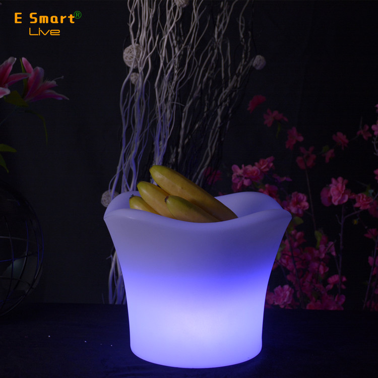 illuminated waterproof led ice cube lighting/ice bucket wine cooler wine holder