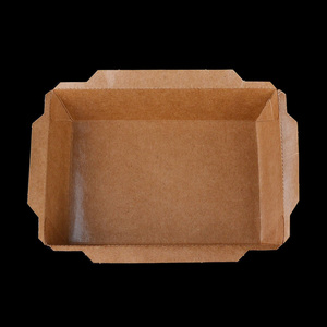 Kraft Paper Food Containers Rectangular Chinese Take Away Boxes Fast Food