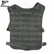Custom Made Lightweight Black Nylon Military Vest Tactical With Plate Carrier For Outdoor