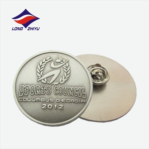 Wholesale custom metal die casting antique badge lapel pins