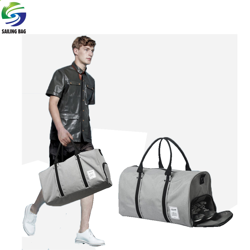 Custom stylish canvas weekender tote bag travel duffle bag sport