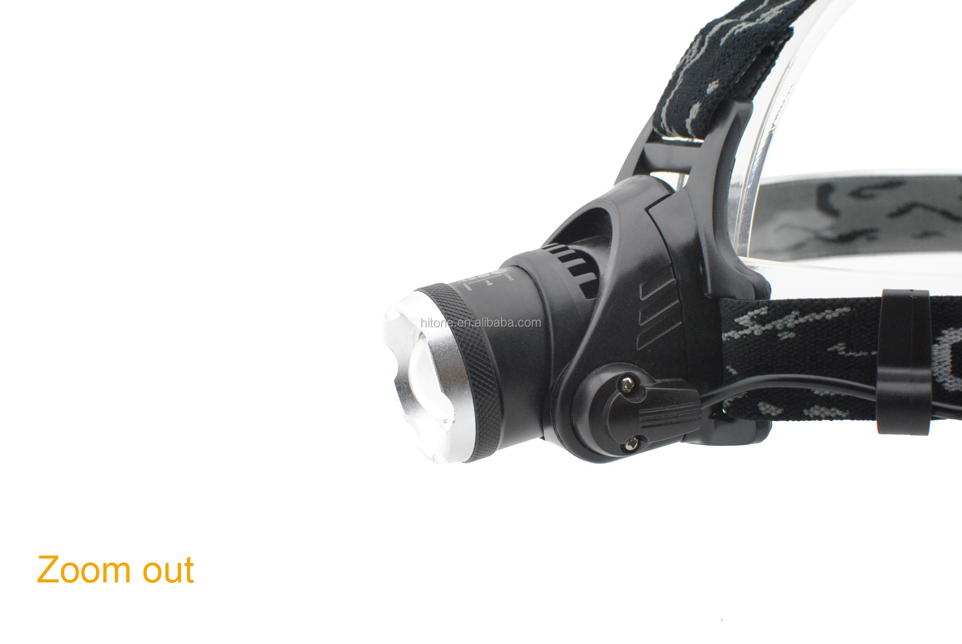 T6 Aluminium 1000 Lumen Kuat Isi Ulang LED Torch Zoom Headlamp