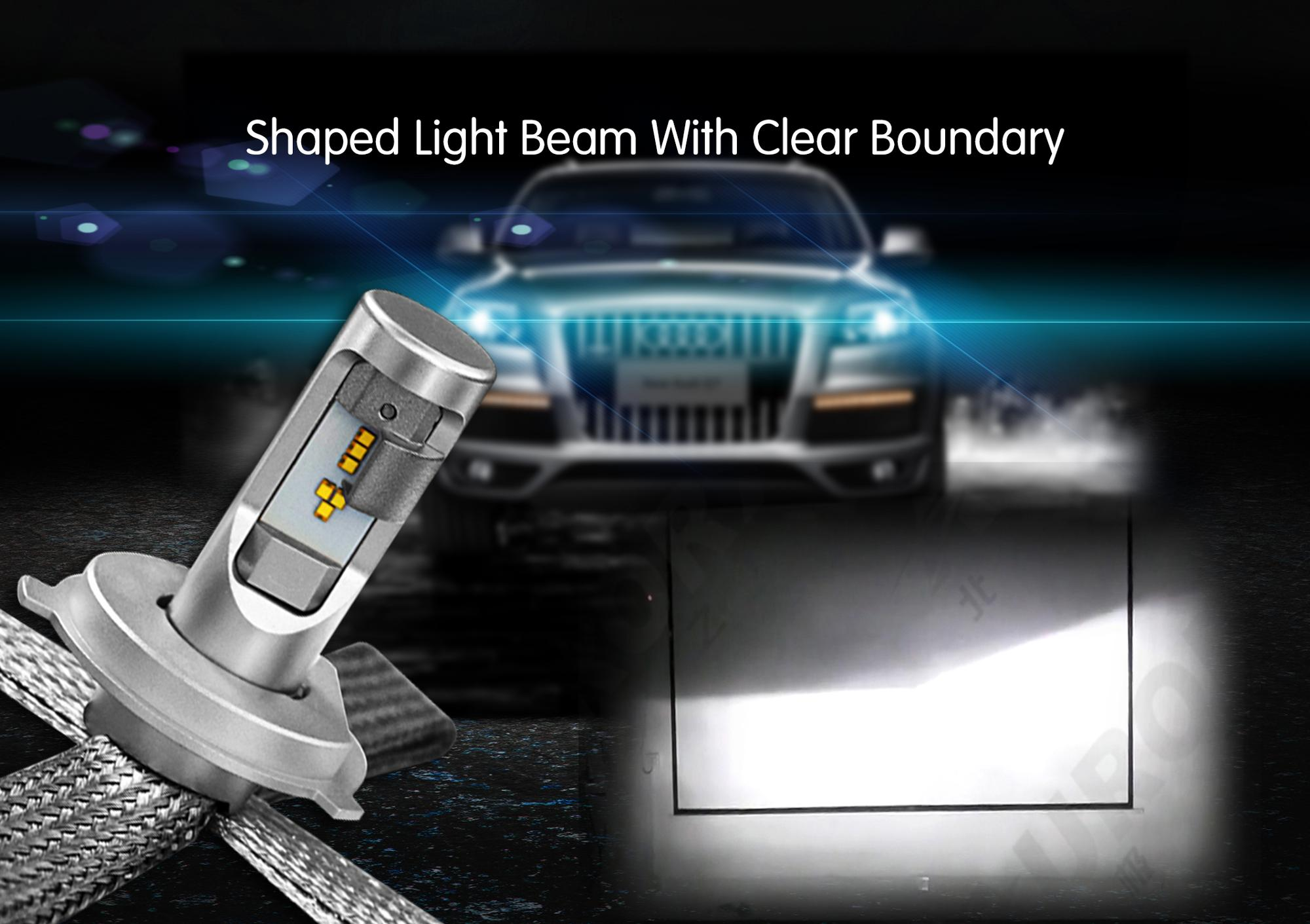 Best 12v automotive led lights H4 h7 car headlight bulb h15 9005 9006 no radio interference led headlights for cars