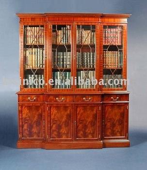 Antico Stile Inglese Libreria Soggiorno Armadietto Del Vino B400039 ...