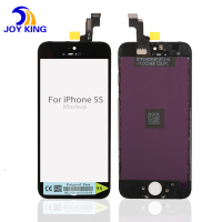 Black For iphone 5S LCD Display Touch Screen Digitizer + Frame + Home button flex cable + Front camera +Tools, Free Shipping