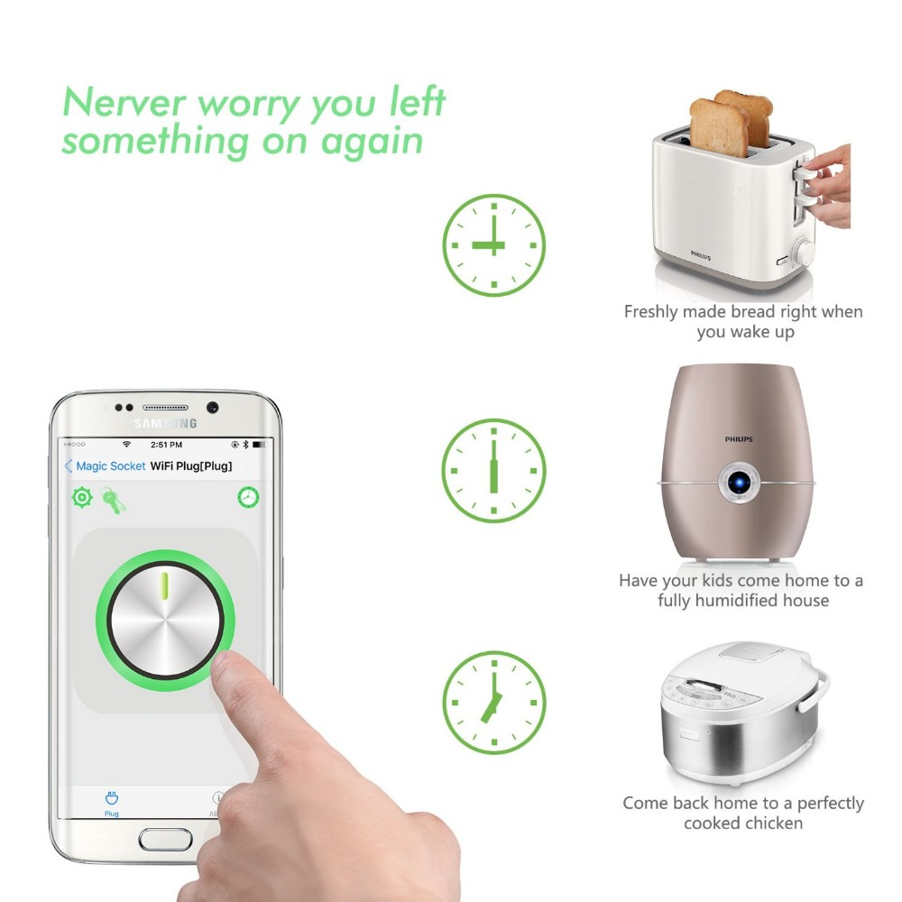 Smartphone Outlet remote smartphone home automation internet through power socket