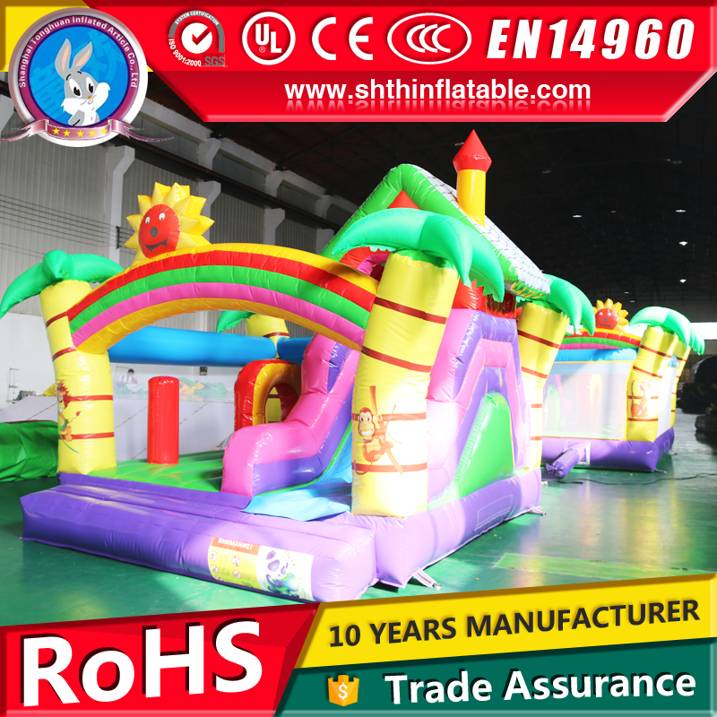 indoor or outdoor inflatable dry bouncer slide for kids