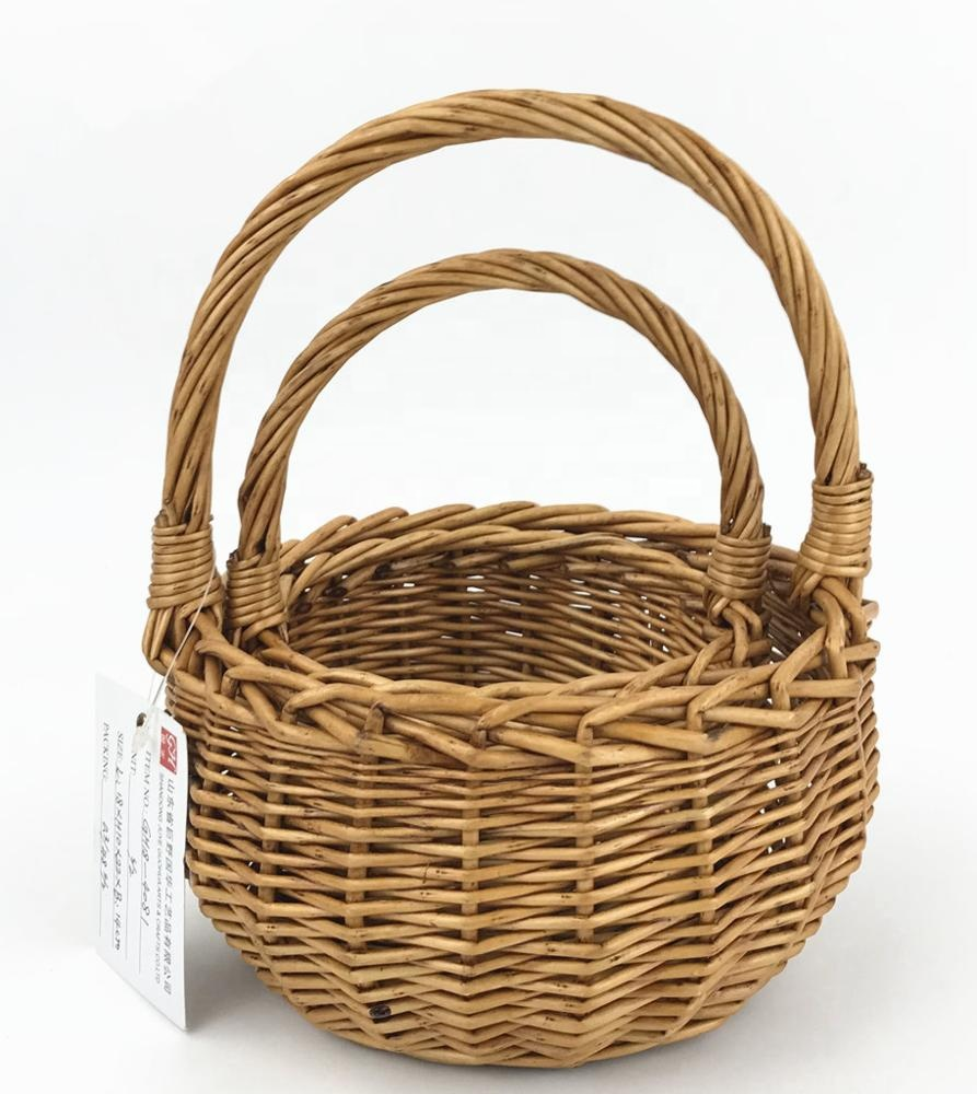 wholesale full willow strong wicker basket