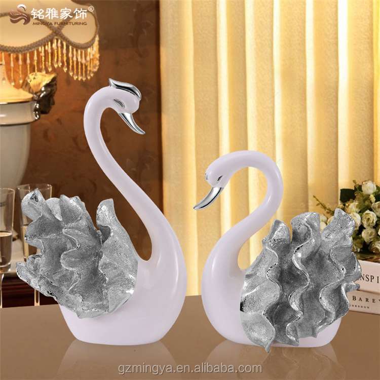 customized wedding gifts beautiful bule swan animal figurines for indoor and outdoor wedding decoration