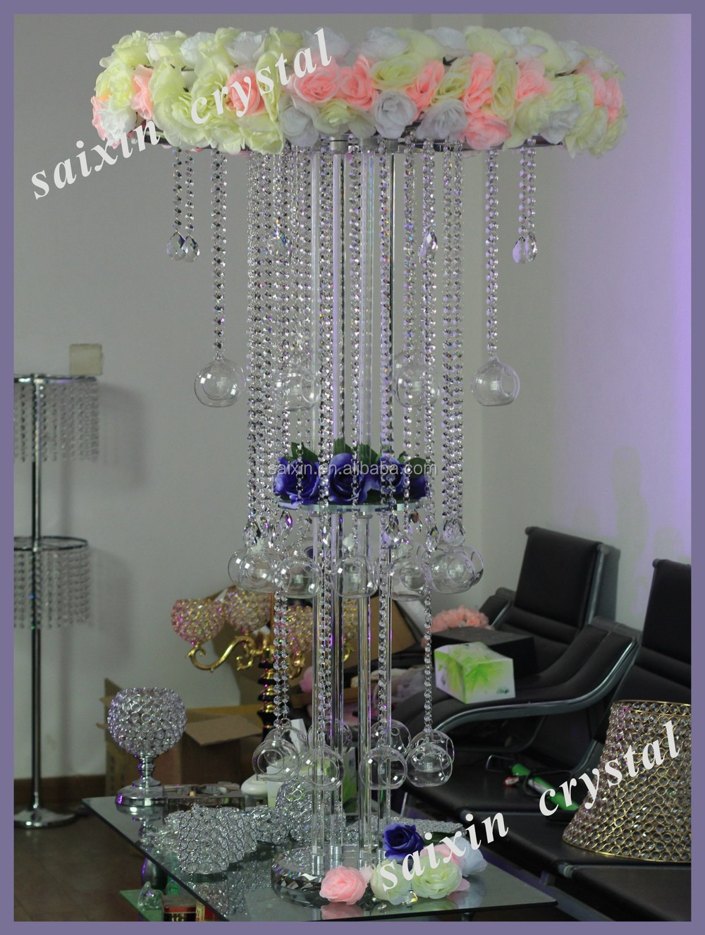 2015 new gorgeous crystal centerpieces wedding table chandeliers 2015 new gorgeous crystal centerpieces wedding table chandeliers for weddings zt 184 arubaitofo Image collections