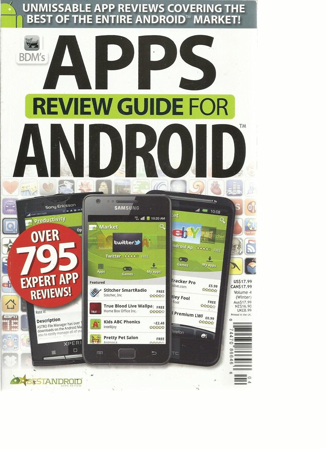 BDM'S APPS REVIEW GUIDE FOR ANDROID, VOLUME, 4 ( OVER 795 EXPERT APP REVIEWS ! )