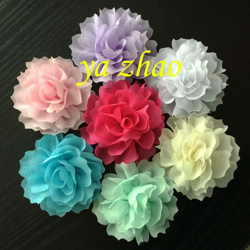"New Sytle 2.3"" chiffon hair flower for baby kids girl Wholesale In Stock"