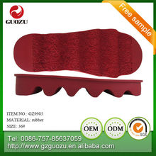 rubber sheet out sole for lady sandal