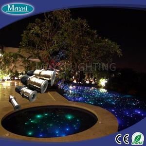 Multi color changing pool fiber optic lighting with waterproof big power  fiber optic illuminator