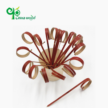 Disposable natural bamboo ring skewers bulk